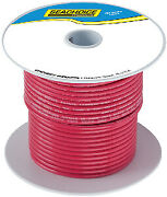 Seachoice Tinned Copper Marine Wire Color Red Size 100and039 Option 2 Awg