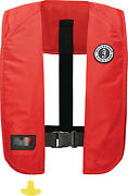 Mustang Mit 100 Inflatable Manual Pfd Color Red