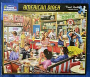 White Mountain 1000 Larger Piece Jigsaw Puzzle American Diner Complete