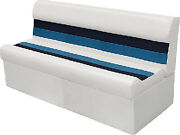 Wise 8wd106 - Deluxe Pontoon 55 Lounge Seats Color White-navy-blue