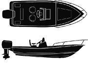 Seachoice Universal Boat Cover Color 19and039 6 X 96 Option V-hull Center Conso