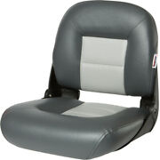 Tempress Navistyle Low-back Folding Boat Seats Color Charcoal And Gray