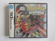 Pokemon Platinum Version Game For Nintendo Ds Authentic Complete Cib - Tested