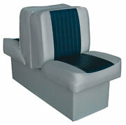 Wise - 8wd707p-1 Deluxe Runner Back-to-back Lounge Boat Seats Color Gray/navy