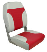 Springfield High Back Fold Down Coach Seats Color Gray And Red