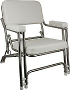 Springfield Classic Folding Deck Chair Stainless Steel
