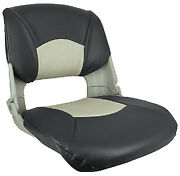 Injection Molded Fold Down Seats With Cushions Color Charcoal And Gray