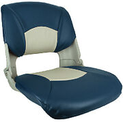 Injection Molded Fold Down Seats With Cushions Color Blue And Gray
