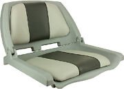 Injection Molded Fold Down Seats With Cushions Color Gray And Charcoal