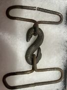 Excavavted Civil War Snake/swan Head Belt Buckle From The John Turner Collection