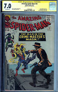 Amazing Spider-man 26 1st Patch And Crime-master Signed Stan Lee Cgc 7.0