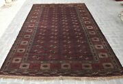 7and0399 X 12and0396 Ft Handmade Vintage Afghan Turkmen Bukhara Area Rug Unique Wool Rug