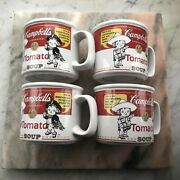 Vintage Campbell's Soup Mug By Westwood 1999 Lot Of 4 Excellent Tomato