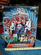 Mmpr Power Rangers Turbo Rescue Megazord Deluxe Double Morphing Action With Box.