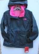 The Womens Resolve 2 Hooded Jacket -a2vc - Ink Blue / Pink- S, M, Xl