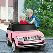 Du24v 2-seater Licensed Land Rover Kids Ride On Car With 4wd Remote Control-pink