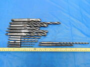 Lot Of Morse Taper 1 And 2 Twist Drill Bits 23/64 39/64 3/4 And More