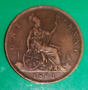 1894 Penny Vf/ef Nice Collectable Coin Ref/2637a