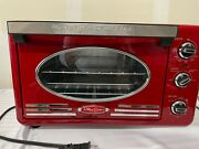 Nostalgia Rtov2rr Convection, Toaster Oven And Broiler 0,7 Cu Ft Metallic Red