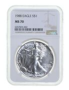 Ms70 1988 American Silver Eagle - Graded Ngc 3669
