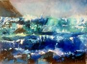 High Tide By James Dick | Impressionist | Oil Painting | Seascape