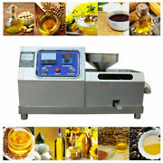 Stainless Steel Commercial Electric Screw Oil Press Machine Oil Extractor 110v