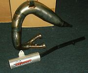 Yamaha Banshee 350, 2 Into 1 Exhaust Head Pipe And Silencer System Factory Finish