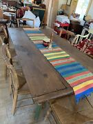 Antique Alabama Farm Table And Set Of Hitchcock Chairs