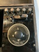 Antique/vintage Western Coil Co Racine Wi Western Coil Type A Crystal Radio Set