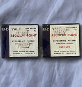 24 Vintage Bd Yale Hypodermic Stainless Luer Lok Needles - 2 Unopened Boxes