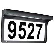 House Numbers Solar Powered Address Sign Led Illuminated Outdoor Metal Plaque