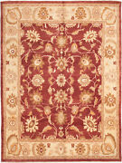 Vintage Hand-knotted Carpet 9and0398 X 12and03910 Traditional Oriental Wool Area Rug
