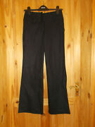 Next Black Linen Summer Holiday Casual Trousers Pants Bnwt 6 34 Petite