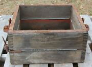 Antique Adams Foundry, Dubuque, Wooden Flask Sand Casting Mold, Planter Table 2