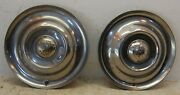 Set Of Two 2 1950 - 1953 Oldsmobile 15 Wheel Cover Hubcaps