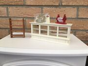 Dolls House Display Counter,gold Cash Register And More