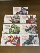 7 - Tuvalu 1 Oz Silver Marvel Coin Set In Limited Edition Cards