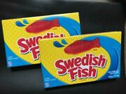 Swedish Fish Soft And Chewy Gummy Candy- Theatre Box Size- {lot Of 2}