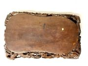 Antique Asian Oriental Wooden Hand Carved Mahogany Lacquered Serving Tray Rare