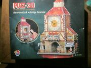 Wrebbit Puzz 3d Bavarian Clock Puzzle 404 Pieces Real Working Clock New/sealed