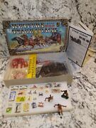 Vintage Doyusha Western Stage Coach Kit And Marx Native American Figures Lot
