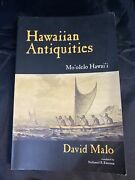 Hawaiian Antiquities Pauahi Bishop Museum By David Malo Second Edition Special