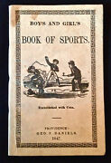 Rare 1847 Baseball Description With Diagram Rules Vintage Illustrated