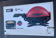 Weber Q 1200 Portable Tabletop Propane Gas Bbq Grill Quick Outdoor Camping Red