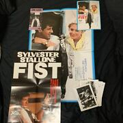 Fist Poster Promotion Sylvester Stallone Cine Guide W/still Photography