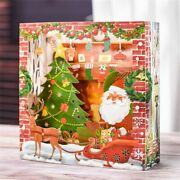 10 Pack Pop Up Christmas Card Santa Claus 3d Xmas Greeting Cards With Envelope