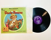 Walt Disneyand039s Stories Of Uncle Remus Record And Picture Book Lp St-3907 1967