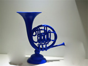 1pcs Tv Show How I Met Your Mother Blue French Horn Resin Home Desk Decor Cospla