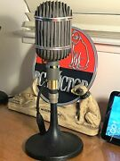 Vintage 1940and039s Altec 639a Ribbon Microphone Restored Working W/stand