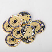10pcs St Michael Police Officer Badge Law Enforcement Protect Us Challenge Coin
